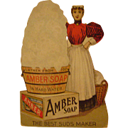 Vintage Amber Soap Trade Card