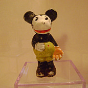 Vintage Mickey Mouse Bisque Baseball Player