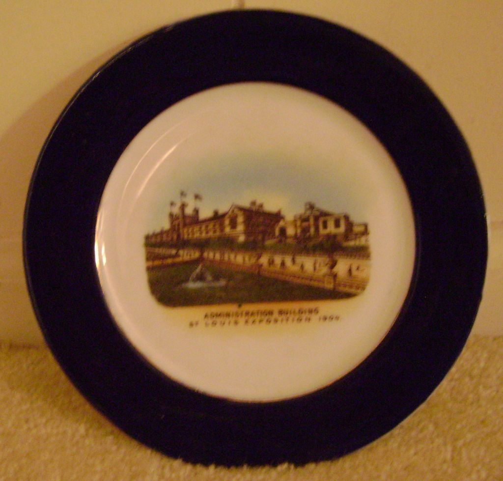Vintage 1904 Worlds Fair Plate