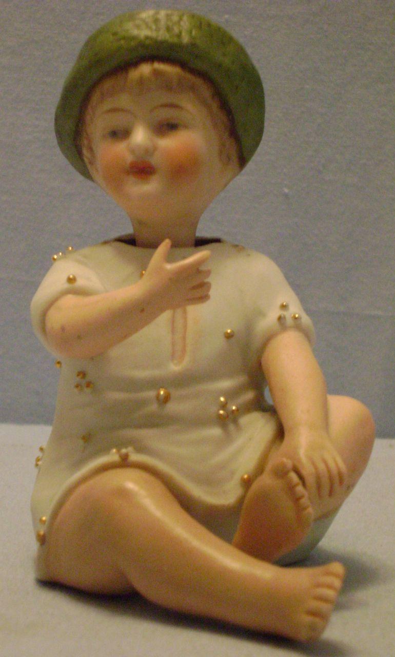 Vintage Bisque Nodder Boy