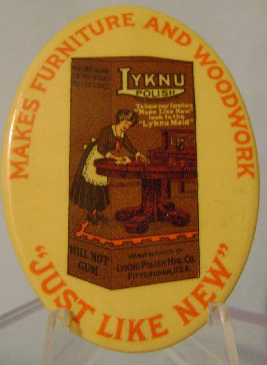 Vintage Lyknu Celluloid Pocket Mirror