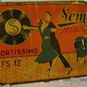 Vintage Sem Phonograph Needle Tin