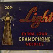 Vintage Light Gramophone Needle Tin