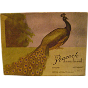 Vintage Peacock Candy Box