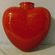 Vintage Heart Shaped Red Light Globe