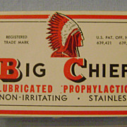 Vintage BIg Chief Prophylactic Box