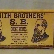 Vintage Sample Box of Smith Brothers Cough Drops