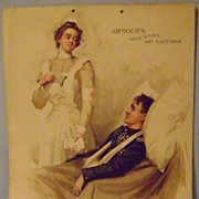 Vintage Amour's Army & Navy 1899 Calendar Page