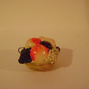 Vintage Celluloid Fruit Basket Tape Measure