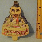 Vintage Snider's Catsup Mechanical Trade Card