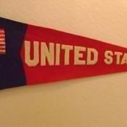 Vintage Patriotic Felt Pennant