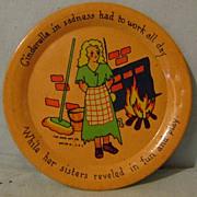 Vintage Ohio Art Cinderella Tin Plate