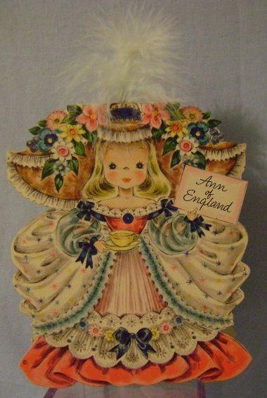 Vintage Hallmark Dolls of the Nations Card England