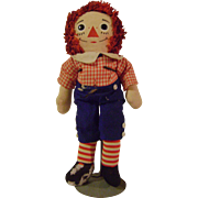 Vintage Musical Raggedy Andy Knickerbocker Doll
