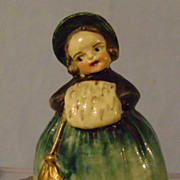 Vintage Figural Celluloid Young Girl Tape Measure