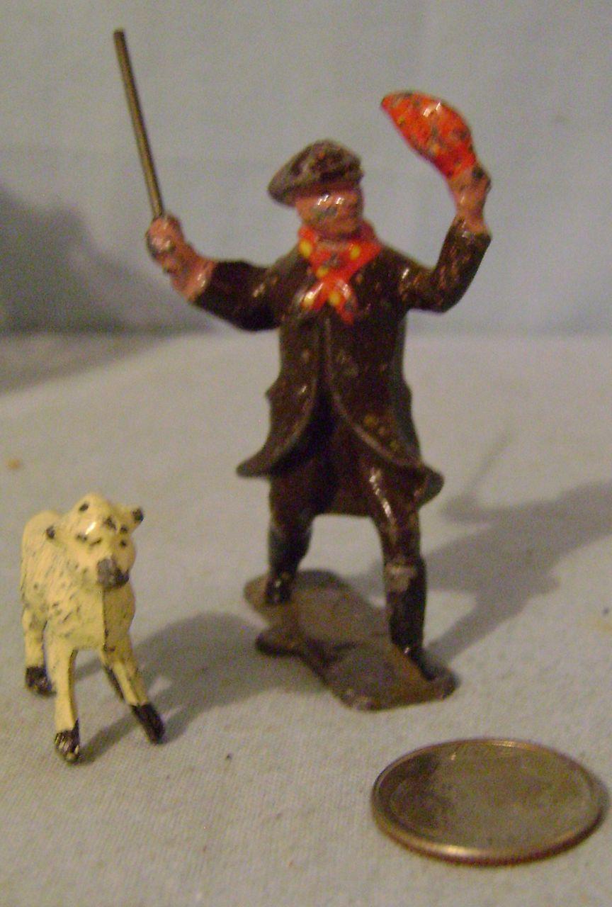 Vintage Metal Shepherd and Ten Sheep