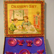 Vintage Children's Boxed Dessert Set