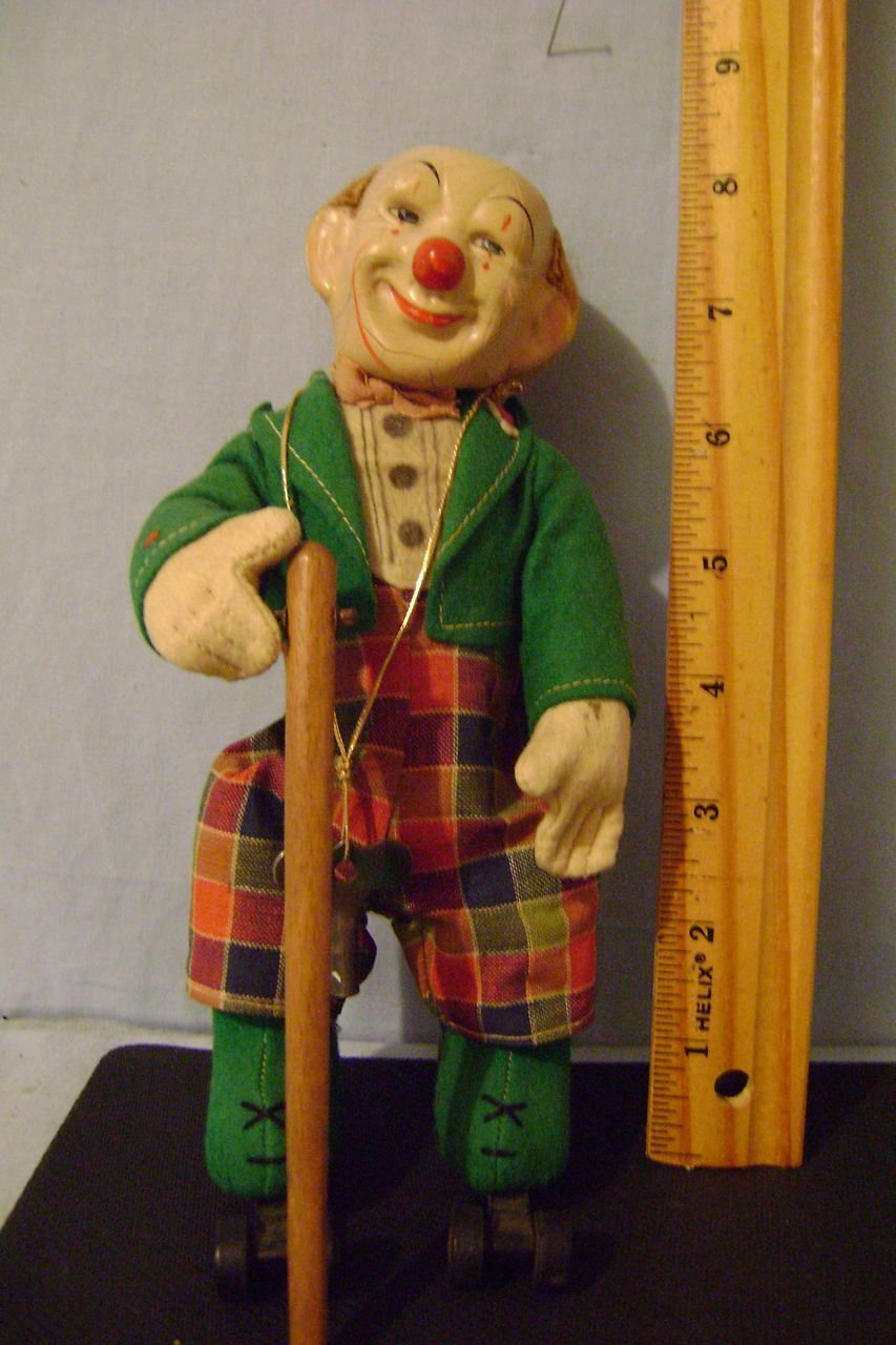Vintage Skating Schuco Rolly Clown