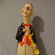 Vintage Gobel Deco Man with Horn Decanter