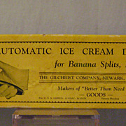 Vintage Banana Split Ice Cream Dipper Box