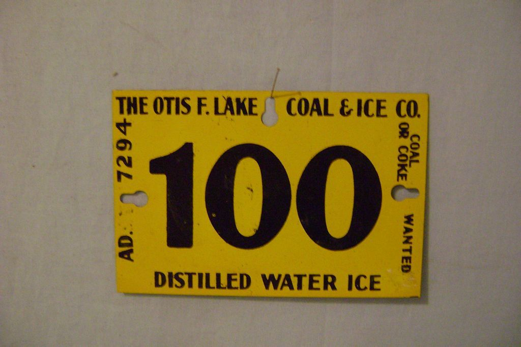 Vintage Tin Ice Sign