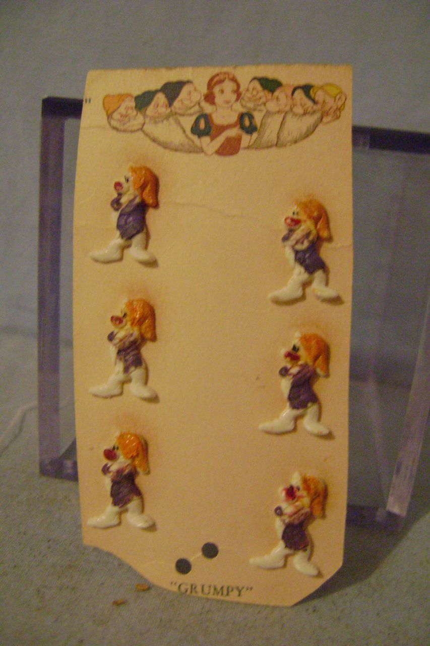 Vintage Disney's Grumpy Button