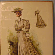 Vintage 1904 Picture of Lady in Current Fashion