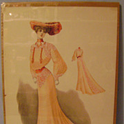 Vintage 1903 Picture of Lady in Current Fashion