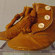 Vintage Childrens Brown Shoes