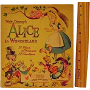 Vintage Walt Disney's Alice in Wonderland Notepaper and Envelopes