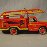 German Tin Firetruck