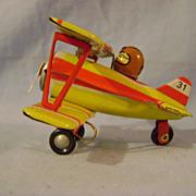 German Tin Toy Airplane