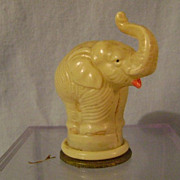 Vintage Elephant Celluloid Pencil Sharpener