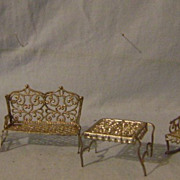 Vintage Metal Doll Furniture