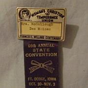 Vintage Women's Temperance Badge