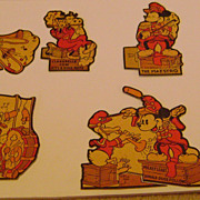 Vintage Mickey Mouse Cardboard Diecut Band