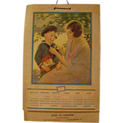 Vintage 1927 Sunshine Cookie Calendar