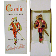 Vintage Cavalier Cigarette Give Away Brooch in Original Package
