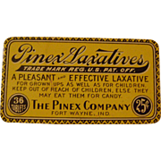 Vintage Pinex Laxative Tin