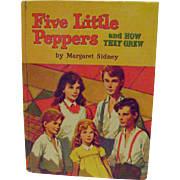 Vintage Whitman Classic Book 'The Five Little Peppers and How They Grew""