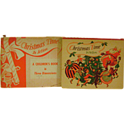 Vintage Christmas Pop Up Book 'Christmas Time in Action'