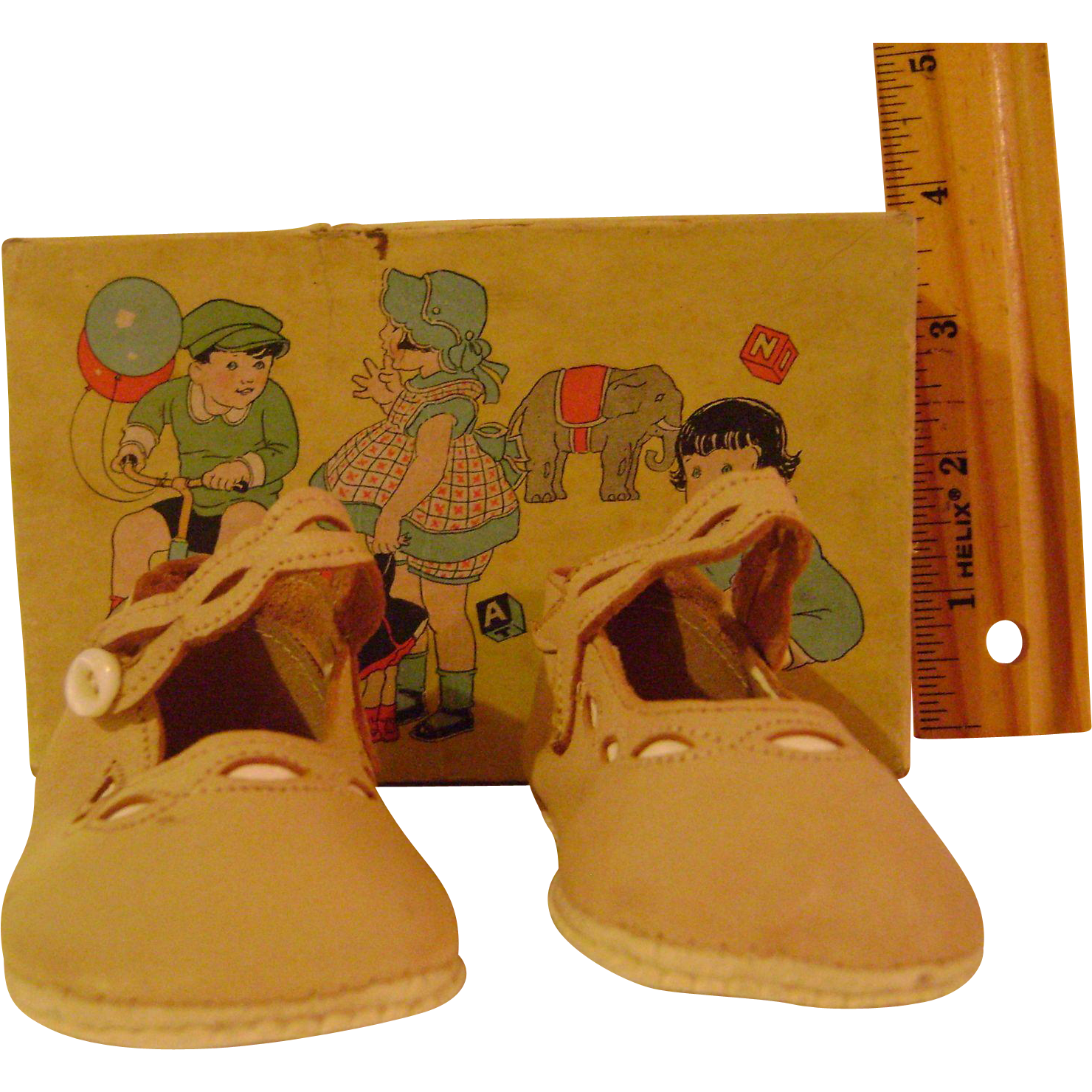 Vintage Childrens Shoes with Original Box