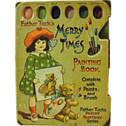 Raphael Tuck's Father Tuck Merry Times Painting Book