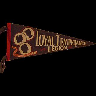Loyal Temperance Legion Pennant