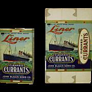 Vintage Liner Brand Currants Unopened Box