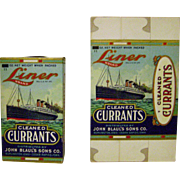 Vintage Liner Brand Currants Unopened Box