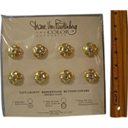 Diane Von Furstenberg City Lights Rhinestone Button Covers
