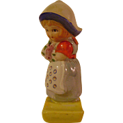 Vintage Dutch Girl Toothbrush Holder