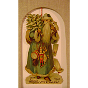 Vintage Die Cut Santa for Page's Ice Cream and Milk