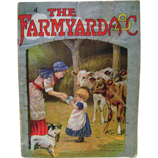 Vintage The Farmyard A B C Linen Book